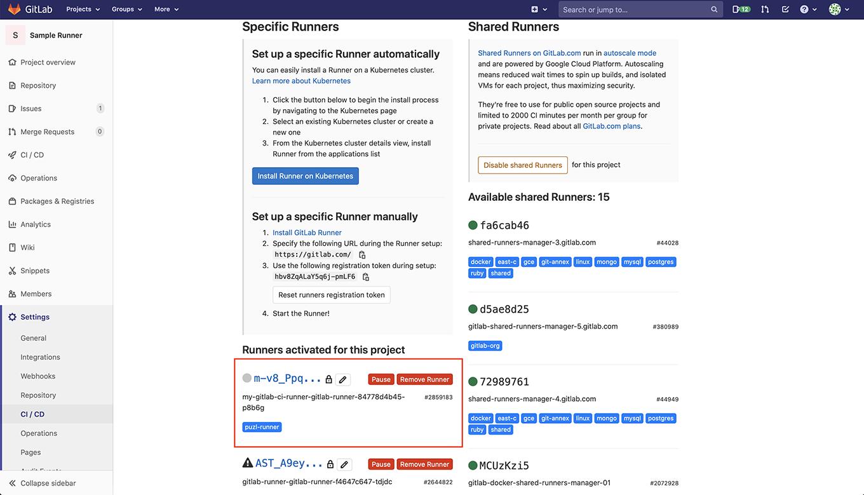 Check Gitlab Runner