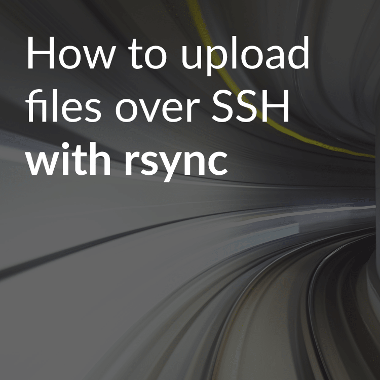 How to transfer files over SSH with rsync